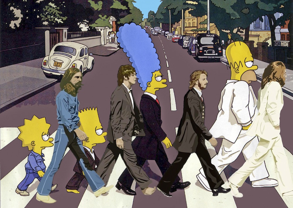 Atravessei a abbey road dos beatles e n o gostei - The simpsons abbey road wallpaper ...