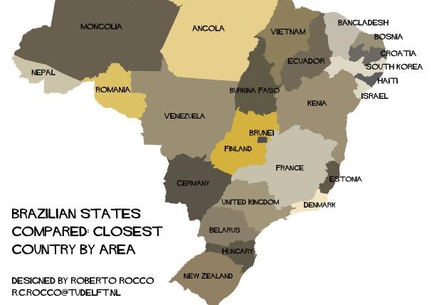 mapa brasil estados europa