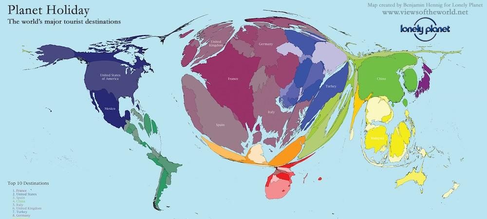 mapa mundi turismo
