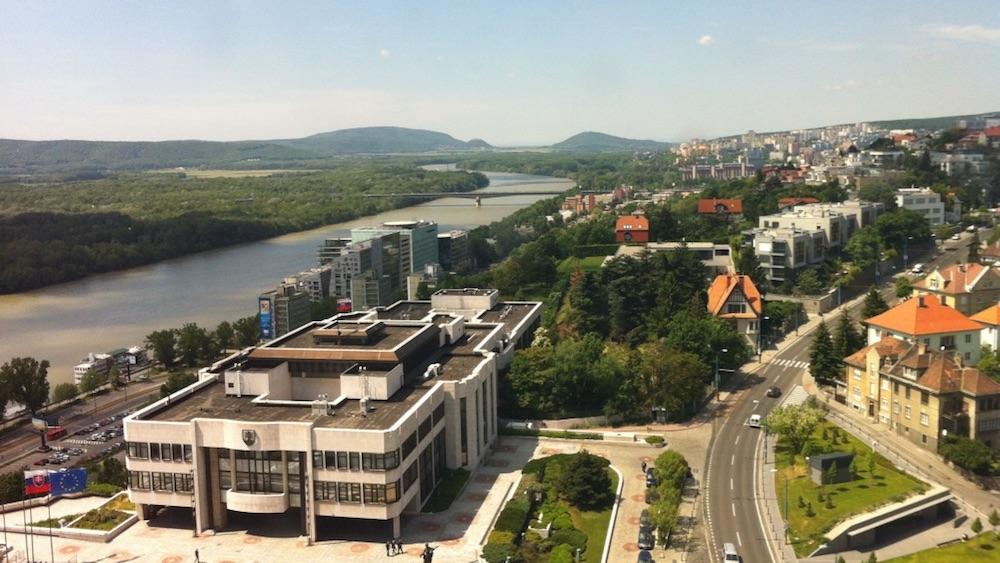 bratislava vista castelo rio danubio