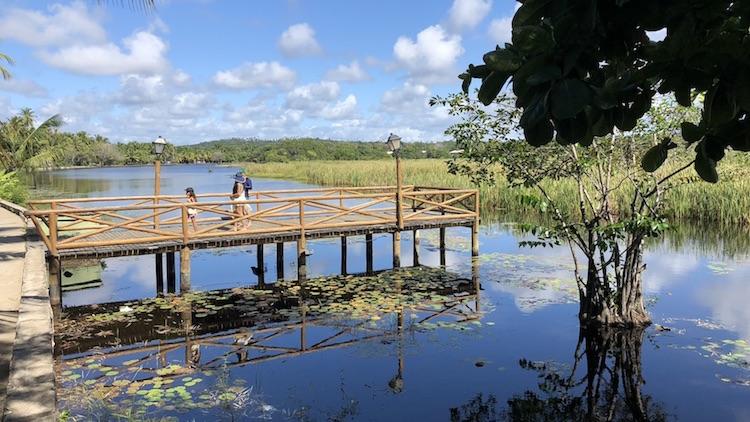 Lagoa Timeantube, em Praia do Forte